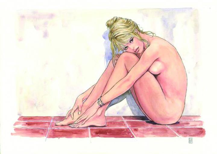 Bardot acuarela Brigitte Bardot, statuie la  Saint Tropez