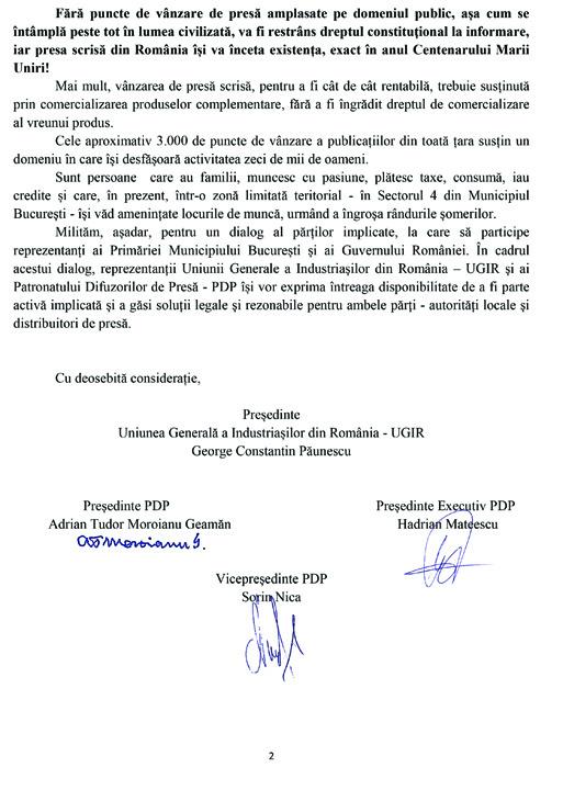Comunicat UGIR PDP 2 Chioscarii de presa intra in greva generala