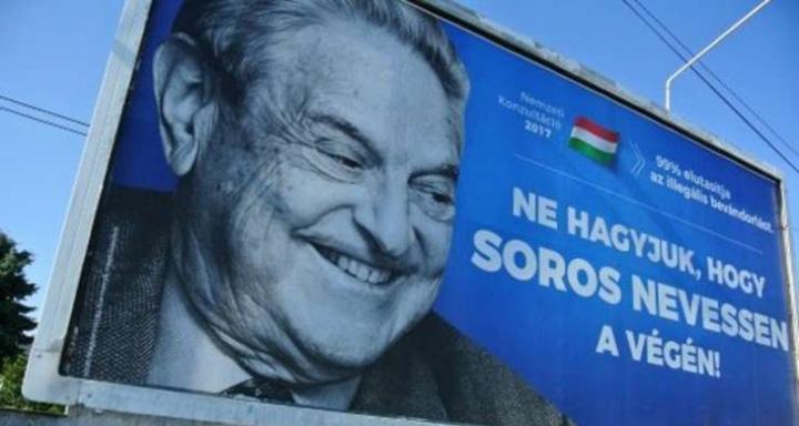 banner antisoros ungaria Afara cu Soros din tara!