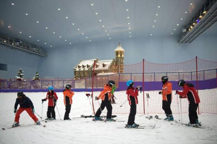 china Cea mai mare sala de schi din lume