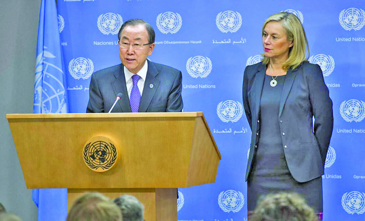 cu Ban Ko moon Trimisa ONU in Siria, hartuita de SPP istul roman!