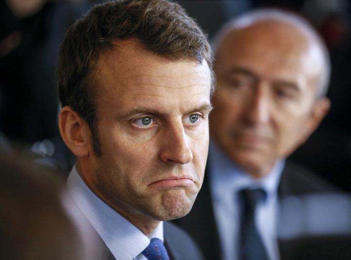 macron Macron, tot mai mic in sondaje