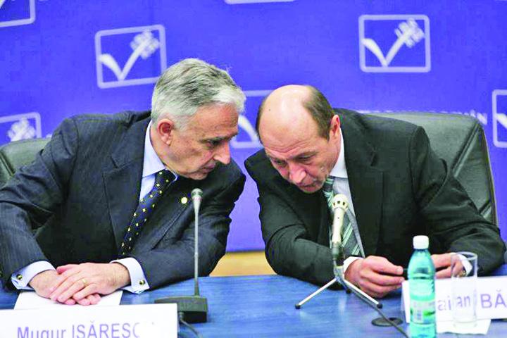 mugur isarescu si traian basescu Isarescu, buturuga din calea aderarii la Euro