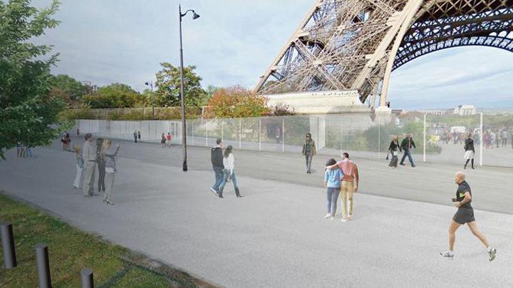 tour eiffel Turnul Eiffel, protejat cu sticla anti Kalasnikov