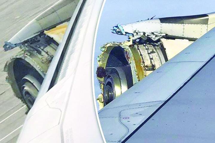 avion1 1 Clipe de groaza pentru pasageri: un motor s a dezintegrat deasupra Atlanticului!