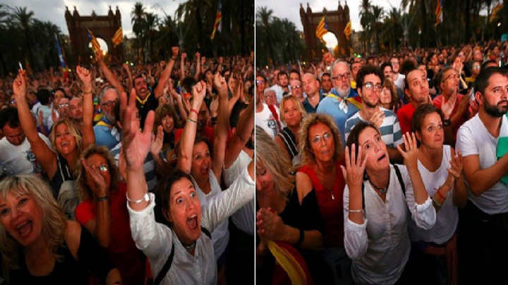 catalanii Catalonia a fost o zi vultur