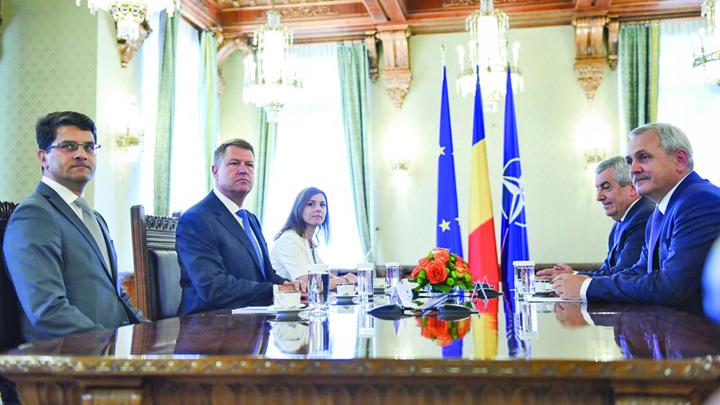 """iohannis lideri coalitie PSD il pastreaza pe Iohannis dar ii """"fura"""" pixul"""