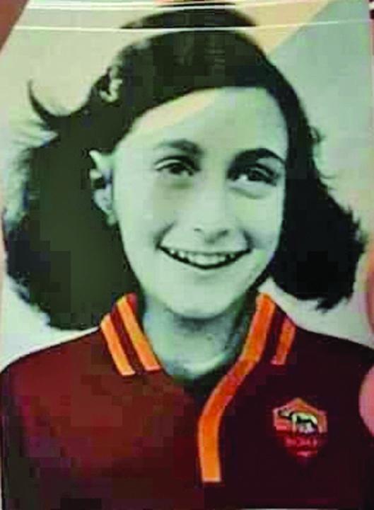 lazio Suporterii Lazio folosesc imaginea Annei Frank