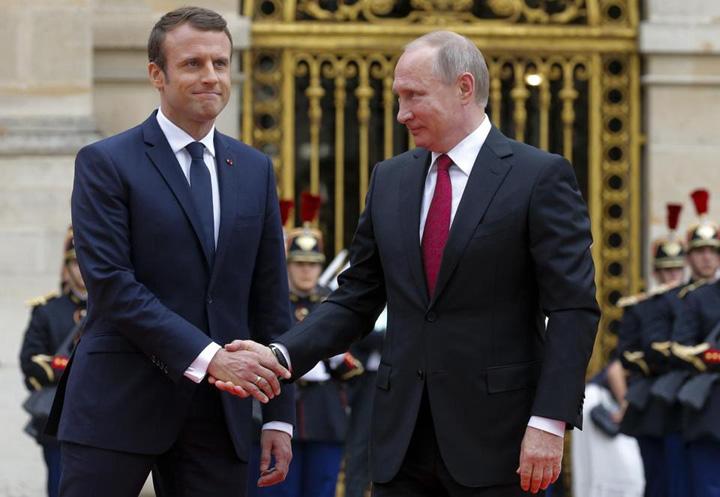 macron putin Macron vine la Putin