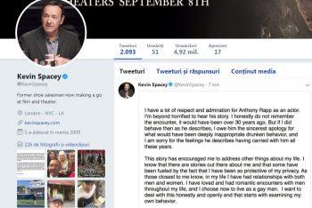 marturisire 350x234 Actorul Kevin Spacey a marturisit pe net ca este homosexual