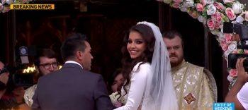 nunta 350x156 Sandra, sotia lui Adrian Mutu, radioasa in rochia de mireasa