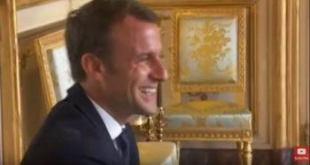rad 350x186 Ce a facut cainele presedintelui Macron de a starnit rasul tuturor (VIDEO)