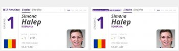 simo 350x100 E oficial: de azi, Simona Halep e noul lider al clasamentului WTA!