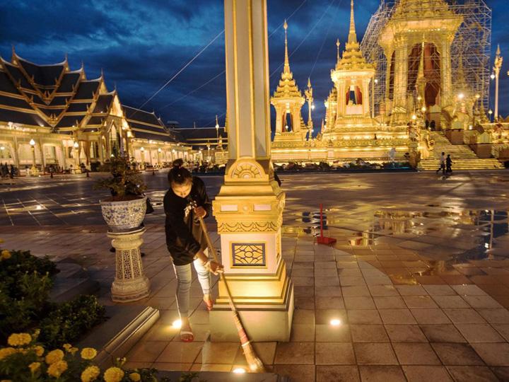 templu Un palat pentru incinerarea regelui Thailandei