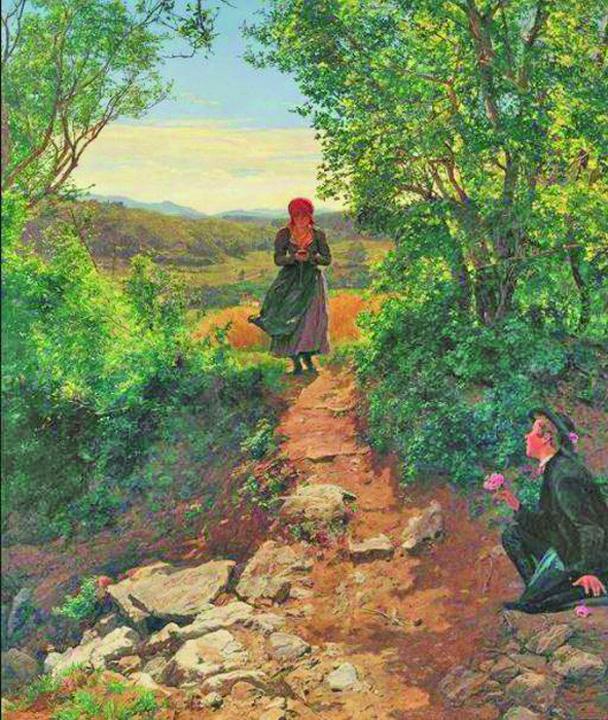 23602339 889067541259247 2020872704 n Tanara cu ochii in ecranul unui telefon mobil, intr un tablou din 1860!