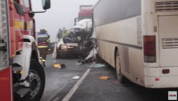 acci 350x199 Trei romani au pierit in urma unui accident, in Ungaria (VIDEO)