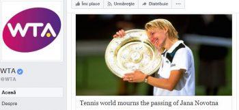 deces 350x161 Doliu in lumea tenisului: Jana Novotna a murit la 49 de ani