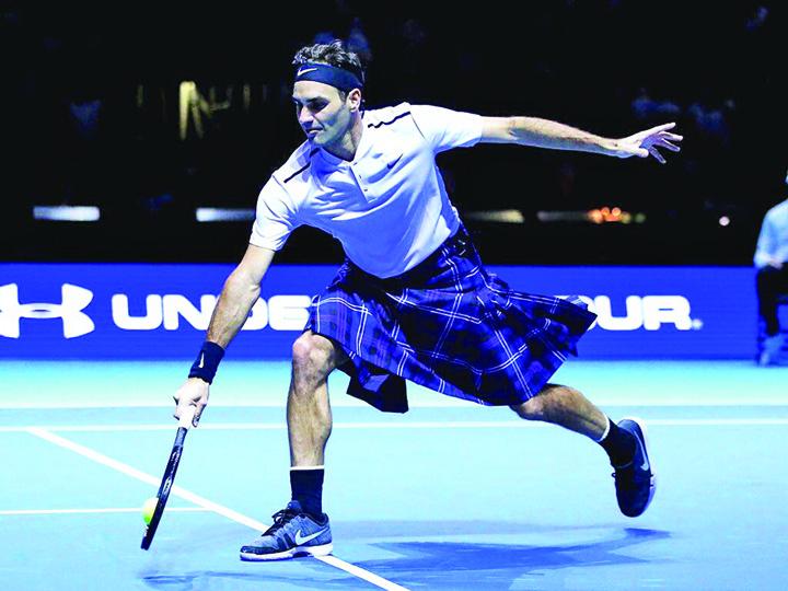kilt 1 Roger Federer, tenis in fusta!