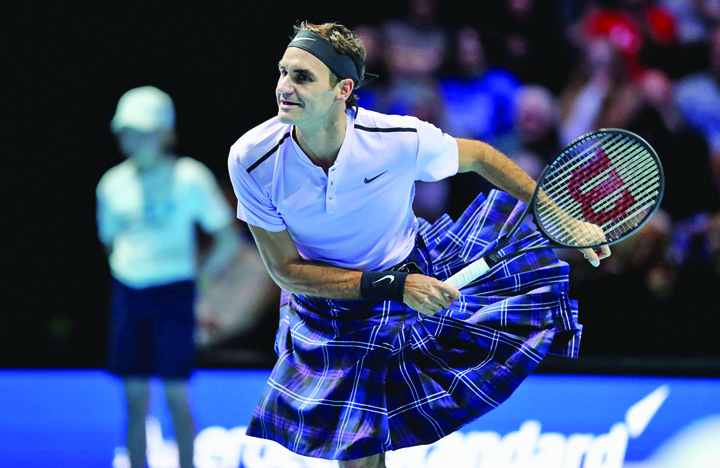 kilt 3 Roger Federer, tenis in fusta!