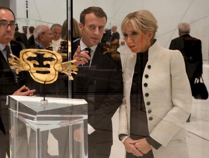 macron2 Macron a deschis Luvru din Emirate