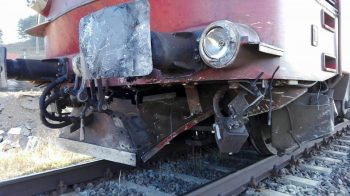 tren 350x196 Locomotiva unui tren a luat foc in mers, in judetul Brasov