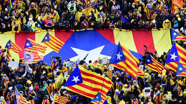catalani Catalanii iau cu asalt Bruxelles ul