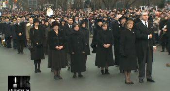 cerem 350x187 Funeraliile Regelui Mihai. Cadre impresionante de la procesiunea din centrul Capitalei