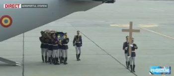 ceremonie 350x154 Regele Mihai, adus in Romania. Asteptat la aeroport de Custodele Coroanei si de nepotul Nicolae