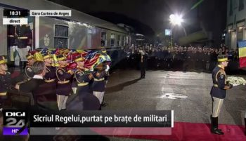 curte 350x201 Funeraliile Regelui Mihai. UPDATE   Trenul Regal a ajuns la Curtea de Arges
