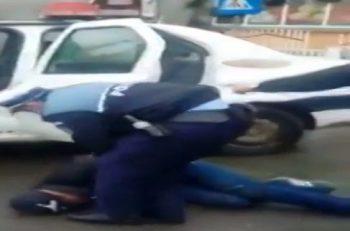 incident 350x231 Ancheta la nivelul Politiei din Tulcea. Scene greu de imaginat in plina strada (VIDEO)