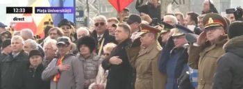 omagiu2 350x128 Comemorarea eroilor Revolutiei. Klaus Iohannis, la ceremonialul de la Universitate
