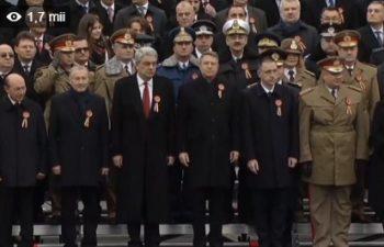parada1 350x225 Ziua Nationala. Iohannis si Tudose au urmarit parada militara de la tribuna oficiala