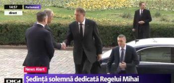 presedinte 350x168 Regele Mihai, omagiat in sedinta solemna, la Parlament, in prezenta sefului statului si a Custodelui Coroanei