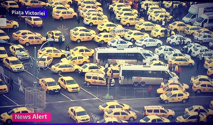 protest taximetristi UE rupe maimuta Uber