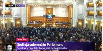 sedinta 6 350x173 Regele Mihai, omagiat in sedinta solemna, la Parlament, in prezenta sefului statului si a Custodelui Coroanei