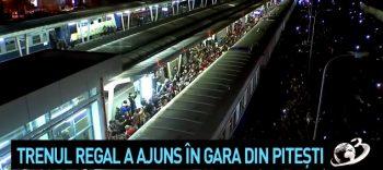 tr3 350x156 O mare de oameni. Imagini cu momentul in care trenul regal a ajuns in gara din Pitesti (VIDEO)