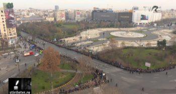 traseu 350x187 Funeraliile Regelui Mihai. Cadre impresionante de la procesiunea din centrul Capitalei