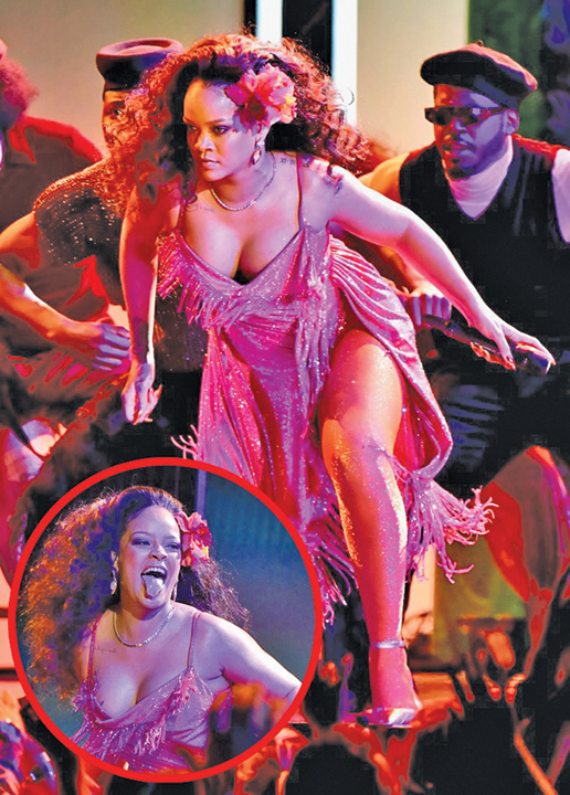 GIFs Rihanna Wild Thoughts Performance Grammys 2018 Rihanna XXL