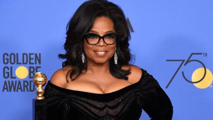 Oprah Winfrey Globurile de Aur, ceremonie in negru