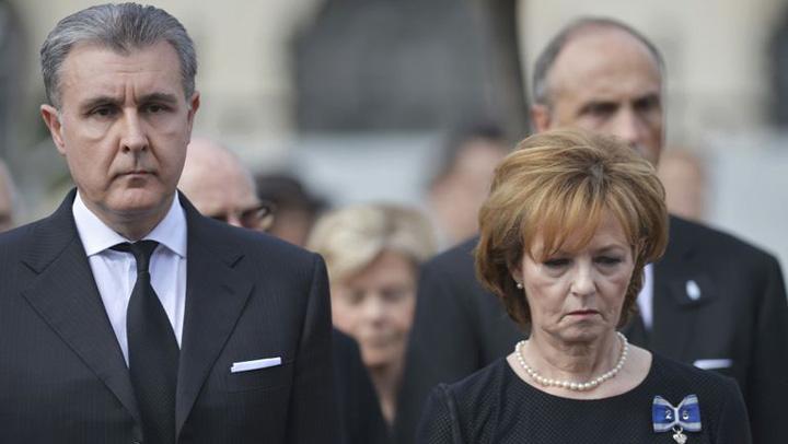 Radu Duda si Principesa Margareta Principesa Margareta si Radu Duda, afara din Palatul Elisabeta