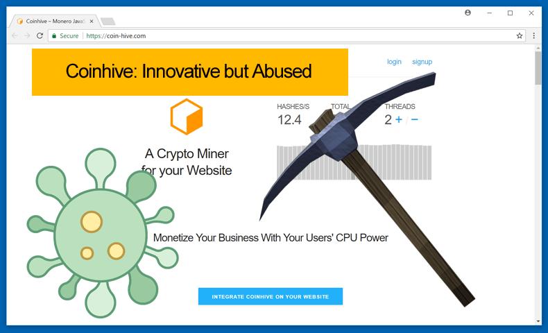 coinhive innovative but abused Hackerii fac bani buni pe carca Antenei 3