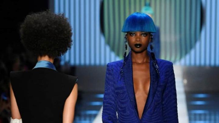 "gaultier ""Parintele""  haute couture, omagiat de JP Gaultier"