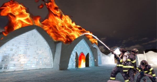 hotel2 Bizar: incendiu intr un hotel de gheata