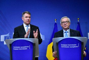iohannis 4 350x234 Avertismentul lui Juncker in privinta legilor Justitiei, dupa discutia cu Iohannis