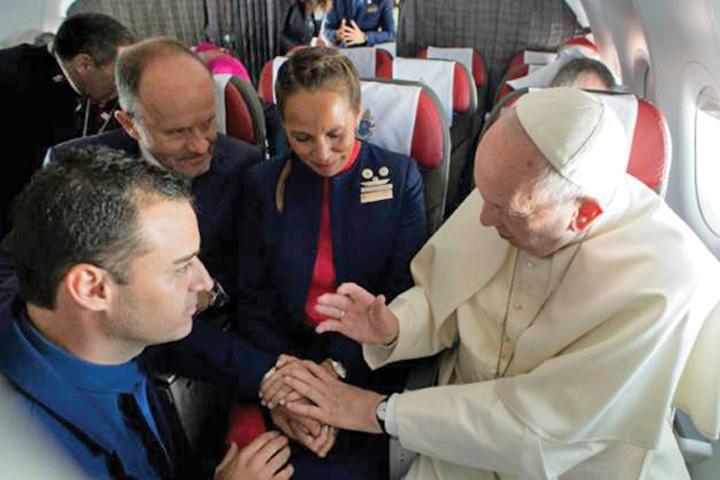papa Casatoriti de Papa in avion