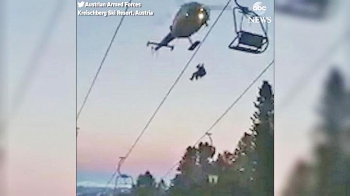 schiori 2 150 de schiori din Austria, salvati cu elicopterele