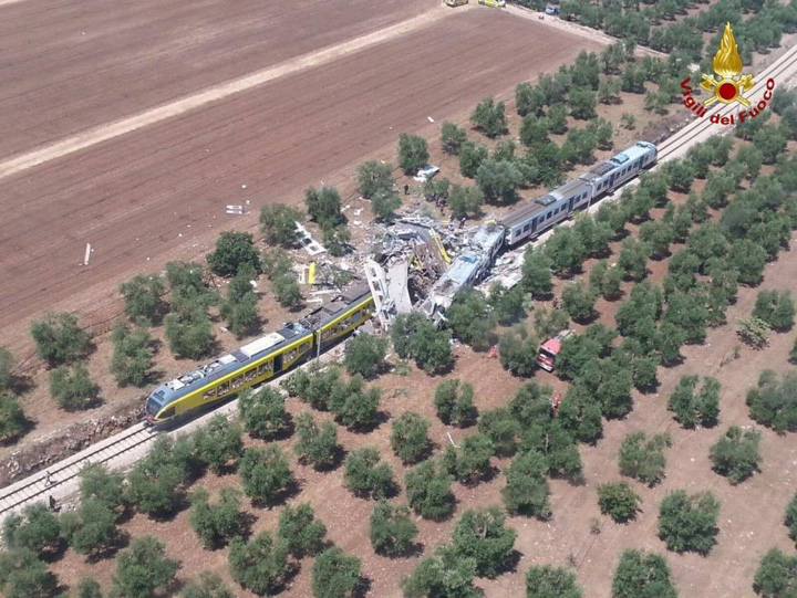 tren 1 Grav accident feroviar in Italia