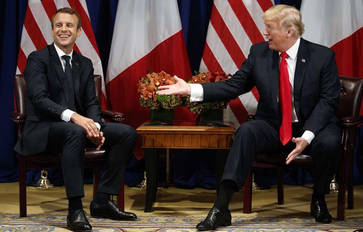 trump macron Micul Napoleon, la palatul lui Trump