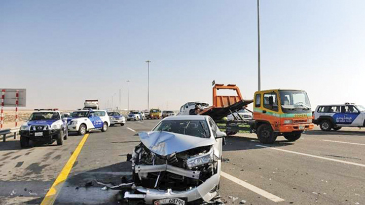 Dubai crash Carambol spectaculos in Dubai