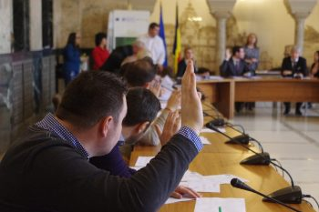 Foto procedura de vot Consiliul Local 350x233 Primaria sectorului 1 demareaza marea reabilitare